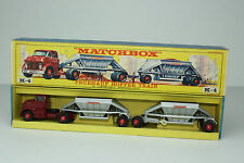 MATCHBOX KING SIZE K-4 FRUEHAUF HOPPER TRAIN TRUCK & TRAILER, NICE, BOXED, LOT B