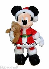NEW DISNEY PARKS SANTA MICKEY MOUSE DUFFY BEAR PLUSH DOLL CHRISTMAS HOLIDAY