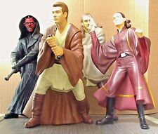 4 Star Wars 1999 Applause figures original Qui-gon Obi-wan Amiadala Darth Maul