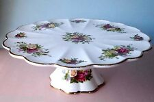 "Royal Albert Old Country Roses Pedestal Cake Stand Plate 12.5"" New"