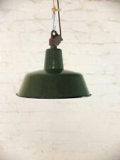 Wunderschöne Emaille-Fabriklampe/ Industrielampe: echtes Industriedesign