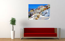 OIA SANTORINI GREECE NEW GIANT LARGE ART PRINT POSTER PICTURE WALL