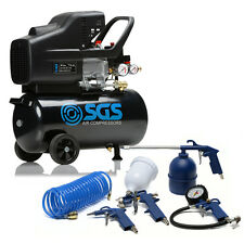 24 Litre Air Compressor & Tool Kit - 9.6 CFM, 2.5 HP