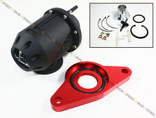 02-07 IMPREZA WRX/02-2014 STi SSQV BLOW OFF VALVE + RED DIRECT FLANGE ADAPTER