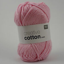 Rico Creative Cotton Aran - 100% Cotton Knitting & Crochet Yarn - Rose 00