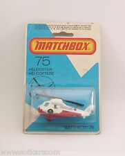 Matchbox Superfast MB 75 Rescue Helicopter neuf/blister (#T5D)
