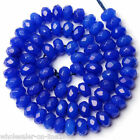 5x8mm Faceted Rondelle Natural Blue Jade Jewelry Making Loose Beads Strand 15""