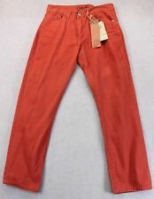 IRON Co NEW YORK Mens DUSTY RED Low Rise SLIM FIT CHINO PANTS NWT 30 x 30