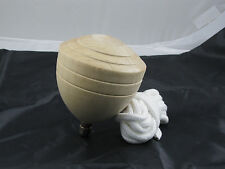 Traditional Taiwan Chinese Wood Spinning Top Large tall 5 inches