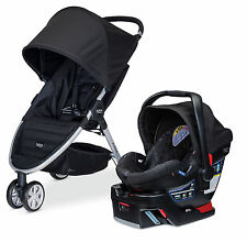 Britax 2015 B-Agile 3 Stroller & B-Safe 35 Infant Car Seat Travel System Black!!