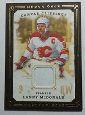 2008 UD canvas clippings framed Lanny McDonald Flames relic jersey card