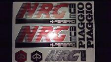Piaggio NRG MC3 Decals / Sticker kit graphics Red/Silver/Black
