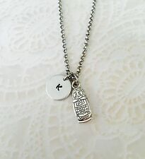 Russian Nesting Doll Personalized Initial Hand Stamped Necklace