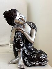 Beautiful Detailed Thai Buddhas Statue. Adorned In  CLEAR QUARTZ Swarovski's