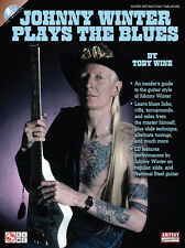 Johnny Winter Plays The Blues Guitar Tab Book Cd NEW!