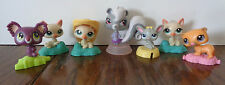 7 McDonald's Littlest Pet Shop Happy Meal Toys -- Cats, Mouse, Squirrel, Koala