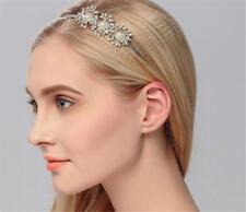 Crystal Bridal Accessories Pearls Flora HeadBand Diamante Wedding HeadPiece 1 PC