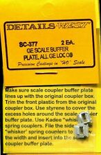 HO SCALE:  DETAILS WEST  377:  GE SCALE BUFFER PLATE
