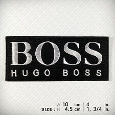 HUGO BOSS EMBROIDERED PATCH IRON ON Sports Race . Clothes Vest T Shirt . Fashion