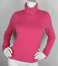 Womens Ralph Lauren 100% Lambs wool turtleneck sweater button sides – Pink – M