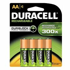 4/pack Duracell AA Rechargeable Batteries AA4 1.2V NiMH EXP 2021 (4x1) DX1500H