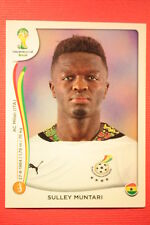 Panini BRASIL 2014 N. 537 MUNTARI GHANA WITH BLACK BACK TOPMINT!!