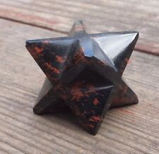LARGE (50mm) MAHOGANY OBSIDIAN GEMSTONE MERKABA STAR (ONE) - BUY IT NOW
