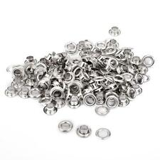 100 Sets Silver Copper Eyelets w/ Washers Leather Craft Repair Grommet 5mm Hole