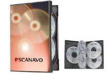 NEW! 1 Scanavo Premium 7-Disc DVD Case 22mm Black - Holds 7 discs