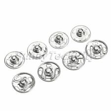 Wholesale 100Pcs Metal Buttons Snap Fastener Press Stud Popper Sew On Craft