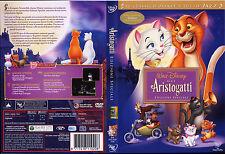 DISNEY DVD Gli aristogatti - ed. speciale con slipcover in rilievo rara