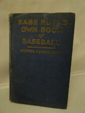 Antique Babe Ruth Book Baseball American Sports George Ruth 1928 Hardcover