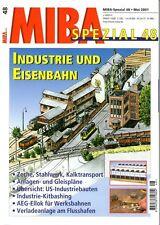 MIBA Spezial Heft 48 Industrie und Eisenbahn Werksbahnen Modellbahn Gleispläne
