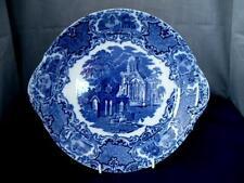 Tarde 19th C George Jones azul y blanca Ware plato/placa de la torta la abadía patrón