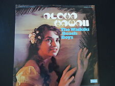 """ALOHA HAWAII""  THE WAIKIKI BEACH BOYS 33 RPM Vinyl LP RECORD Vintage music HULA"