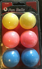 Butterfly MK Fun 6 Pack Ping Pong Balls 40mm Table Tennis Balls