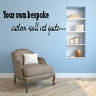Personalised Custom Bespoke Text Wall Art - Wall Sticker - Wall Decal