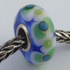 Authentic Trollbeads Ooak Universal Unique 124 Murano Glass Bead Charm Fits All