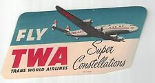 1950s TWA Airlines Baggage Sticker NOS Un-Used Vintage item