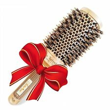 Best Blow Dry Round Hair Brush with Natural Boar Bristles for blowouts 2 inch- &