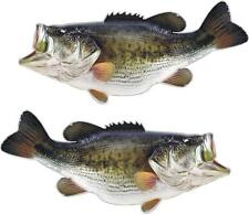 2 Largemouth Bass Decals Senko Fishing Rod Reel Crank Bait Spinning Ranger Boat