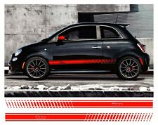 Pair Fiat 500 side stripes vinyl decal detail Sidestripes graphics colour choice