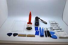 iPhone 7 Blanc Kit de Réparation Écran Avant, Fil, Colle, Torche UV, Outils