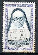 TIMBRE FRANCE OBLITERE N° 1291 HEROS DE LA RESISTANCE MERE ELISABETH