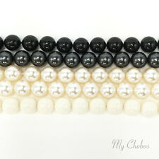 25 pcs Swarovski 5810 8mm Crystal Round Pearls Beads BLACK & WHITE Colors Mix