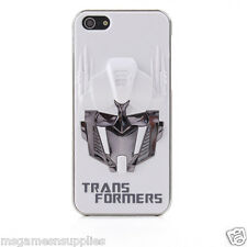 White / Silver 3D Transformers Optimus Prime iPhone 5 5s 3D Plastic Full Case