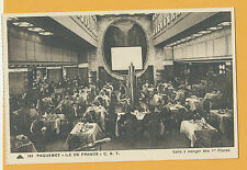 SS Ile de France Postcard - 1st Class Dining Room - CGT - French Line
