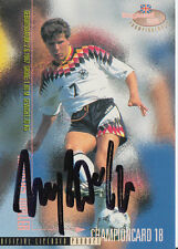 Andreas Möller DFB Panini Card EM 1996 TOP Orig. Sign. +A27625
