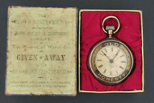1870's Old Honesty Tobacco Advertising Watch by Waterbury in the Original Box
