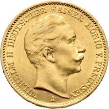LANZ Preussen Wilhelm II 20 Mark Gold 1909 A Berlin Adler Doppelkrone @HL3510